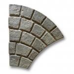 Gryphonn Cobblestone Fan Pennant Grey