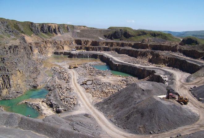 Gryphonn Concrete Trefil Quarry Arial